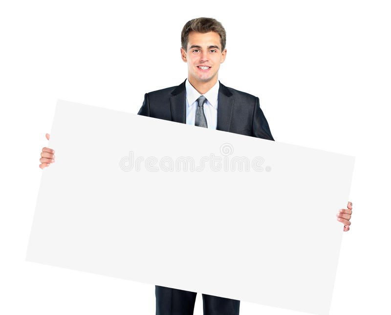 Happy smiling young business man stock photography