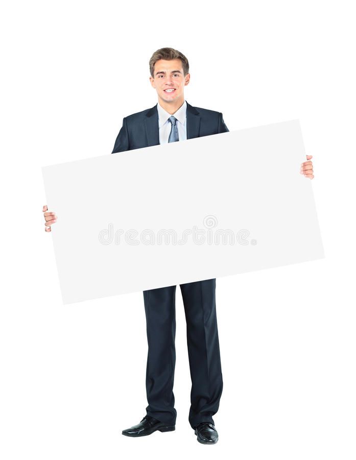 Happy smiling young business man stock images