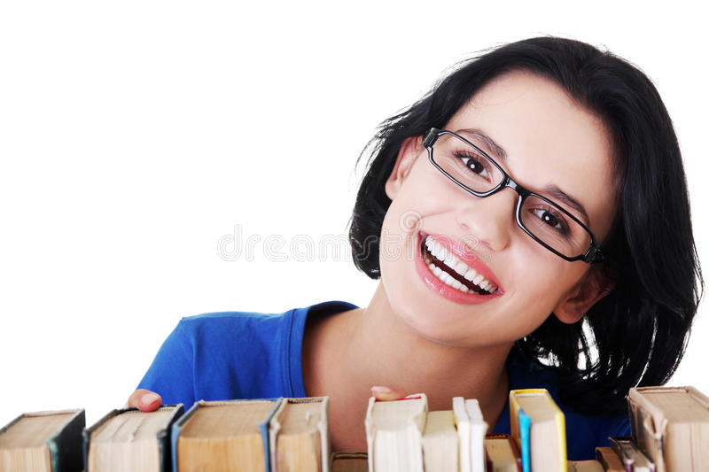Download Happy Smiling Young Student Woman With Books Royalty Free Stock Photography - Image: 27907627