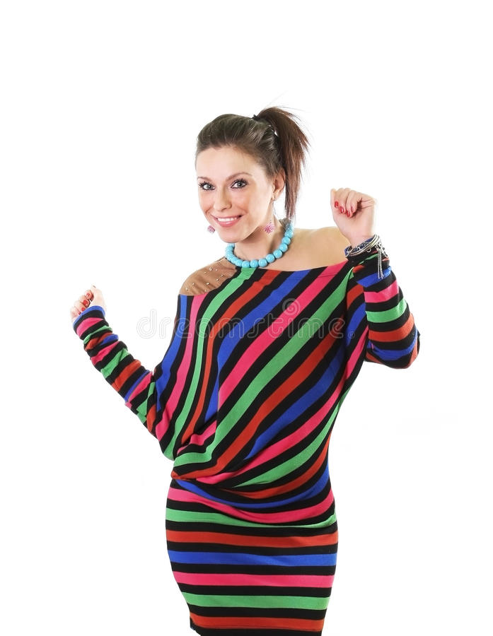 Download Happy smiling young woman stock photo. Image of vivid - 22817594