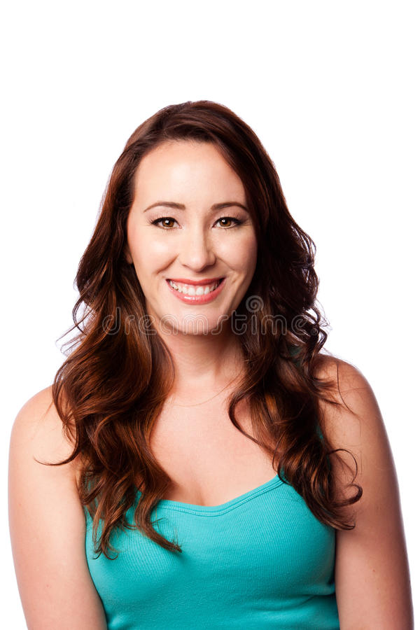 Happy smiling young woman royalty free stock photo