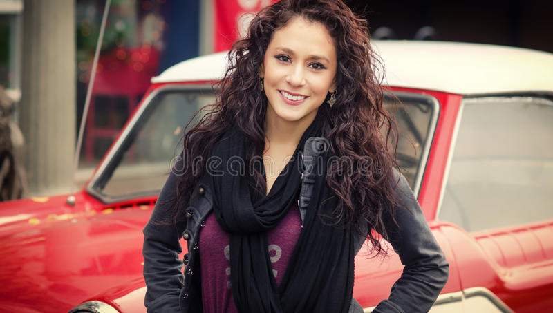 Download Happy smiling young woman stock image. Image of photo - 28312469