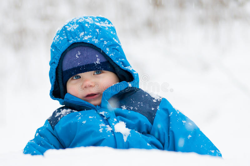 Happy In The Snow Royalty Free Stock Images