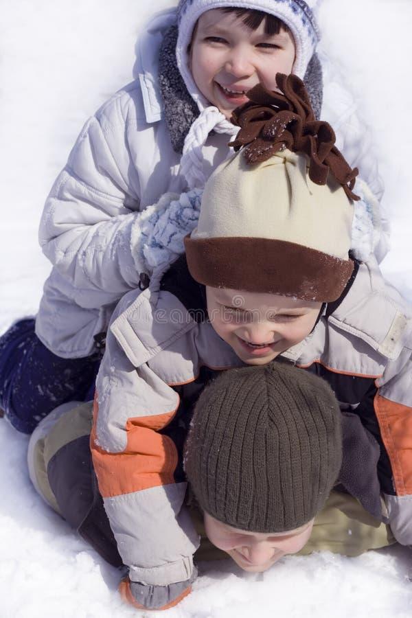 Happy on snow royalty free stock image