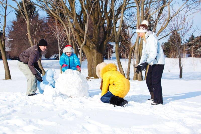 Happy snow leisure stock image