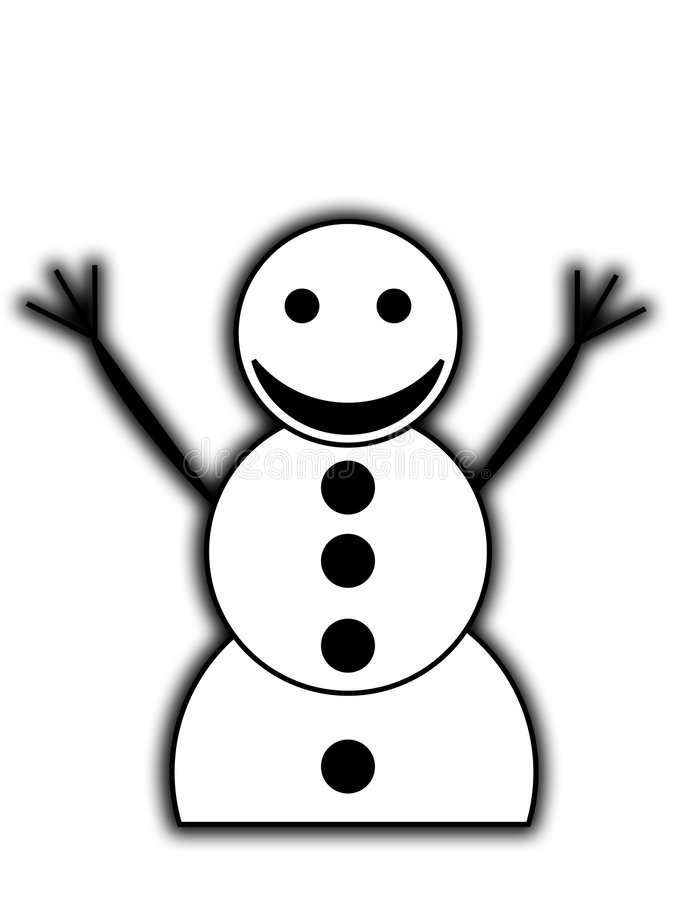 Download Happy Snowman stock illustration. Image of jovial, cold - 7445999