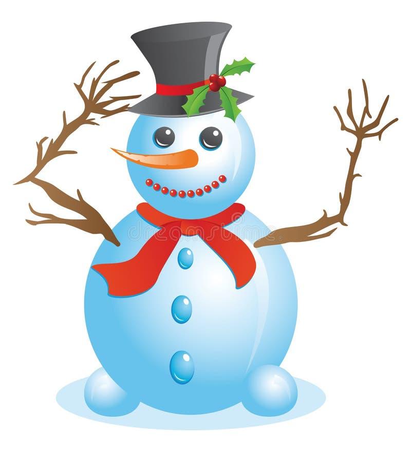 Download Happy snowman stock vector. Illustration of celebration - 35469541