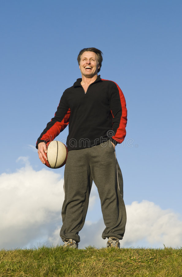 Happy Sportsman. Stock Images