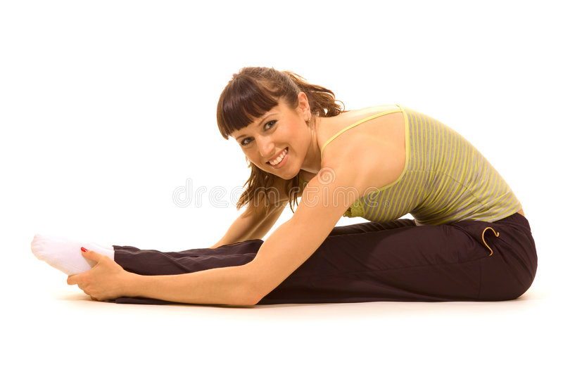 Happy sportswoman stock photography