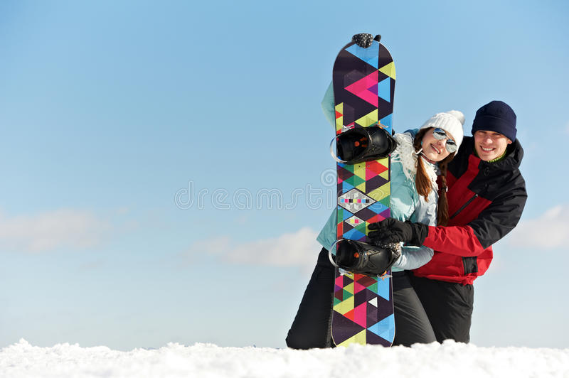 Download Happy Sportswoman With Snowboard Stock Image - Image: 28529345