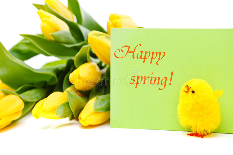 Download Happy spring stock image. Image of blank, plant, card - 22918993
