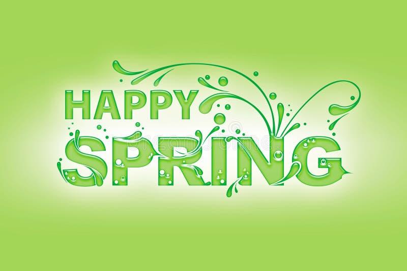 Happy Spring royalty free illustration