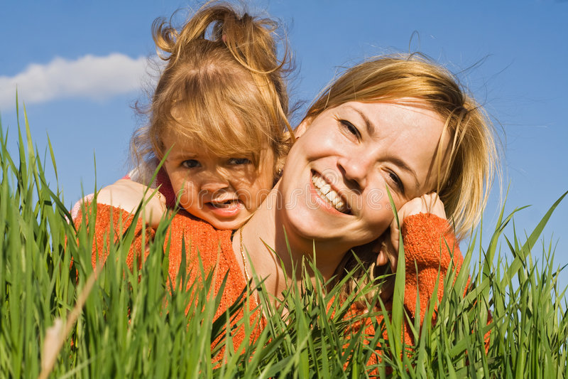 Happy Spring Girls Royalty Free Stock Photos