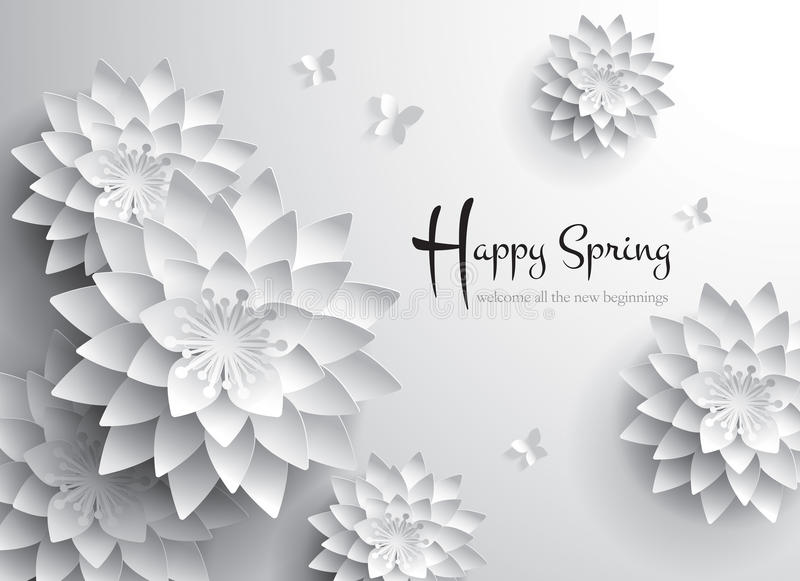 Happy spring welcome all the new beginnings stock vector welcome all the new beginnings stock vector illustration of cutting mightylinksfo