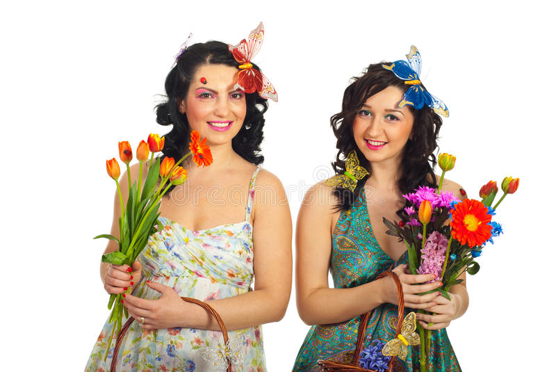 Happy Spring Women Stock Images