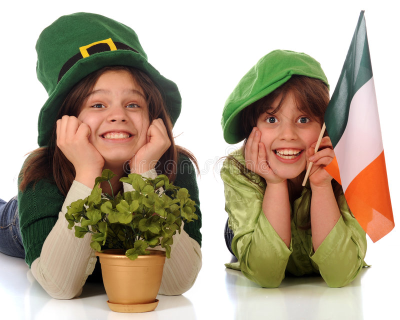 Happy St. Patrick Celebraters stock photography