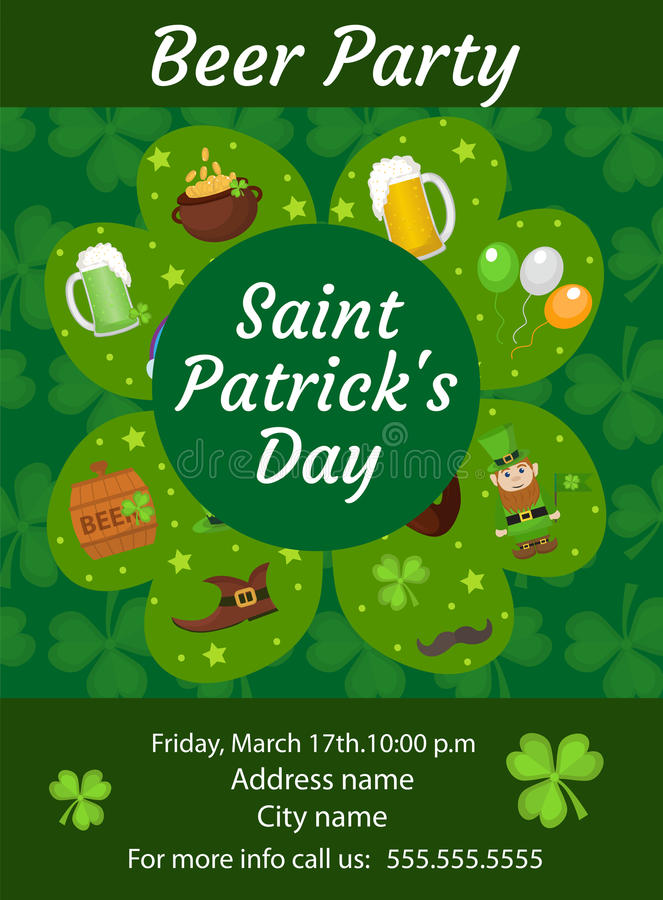 Download Happy St Patricks Day Invitation Poster Flyer Beer Party