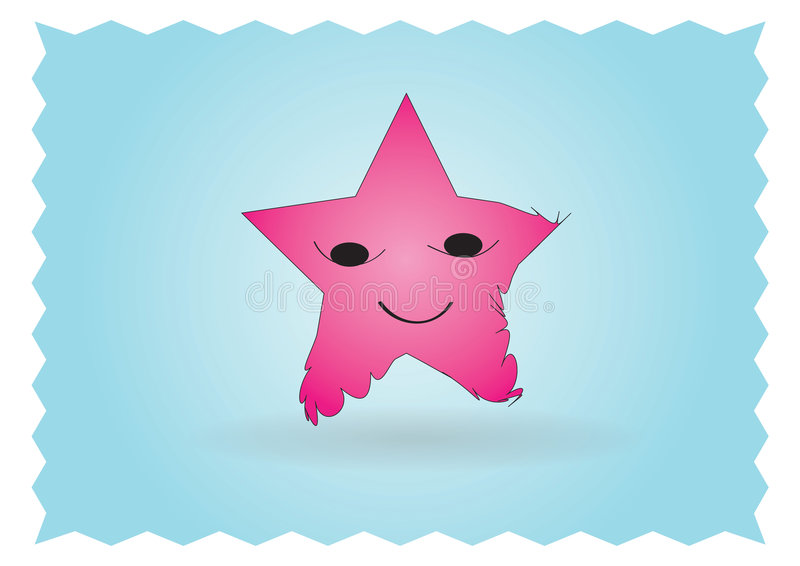 Download Happy star character stock vector. Image of cute, against - 7370562