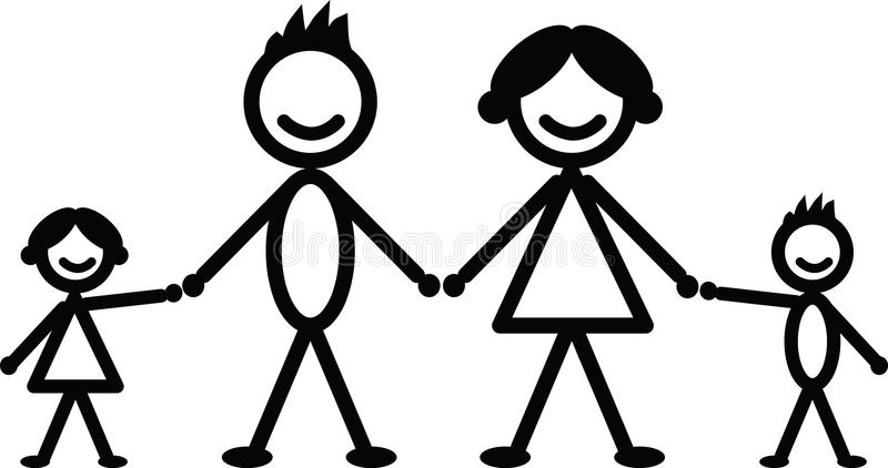 Download Happy stick family stock vector. Image of stick, figures - 34641919