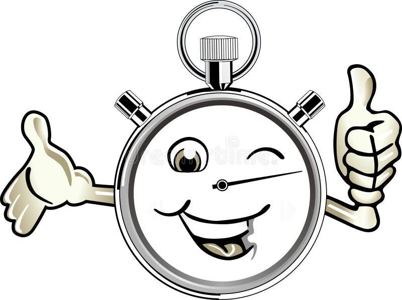 happy stopwatch royalty free illustration