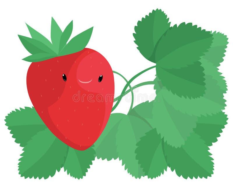 Download Happy Strawberry stock illustration. Illustration of plant - 25690319