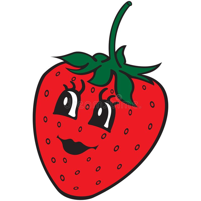 - Happy Strawberry Cartoon Symbol. Design Element For Kids Coloring Book,  Colouring Page, T-shirt Print, Label, Sticker. Stock Vector - Illustration  Of Background, Food: 152265486