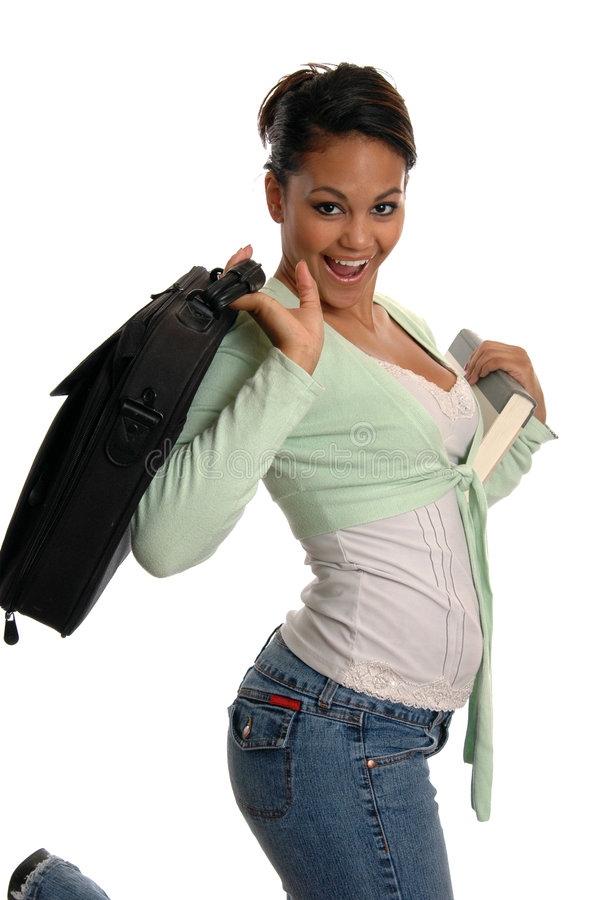 Happy Student. A happy young student or busiensswoman stock photography