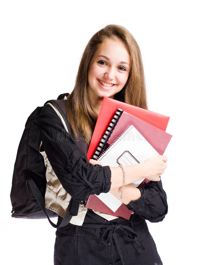 Happy Student Girl Royalty Free Stock Photos