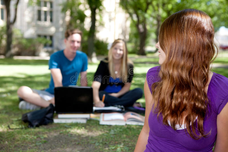 Download Happy Student looking back stock photo. Image of pretty - 21081130