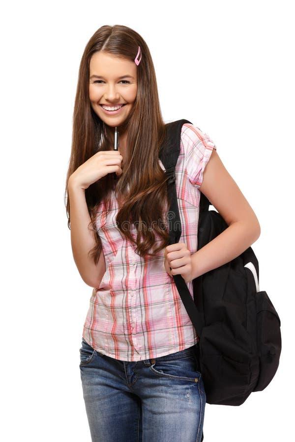 Happy student portrait royalty free stock image