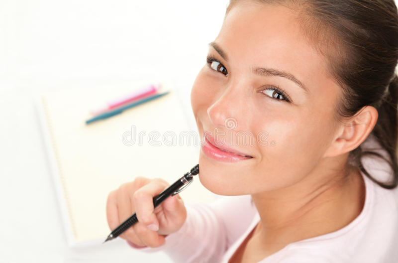 Happy student studying stock images
