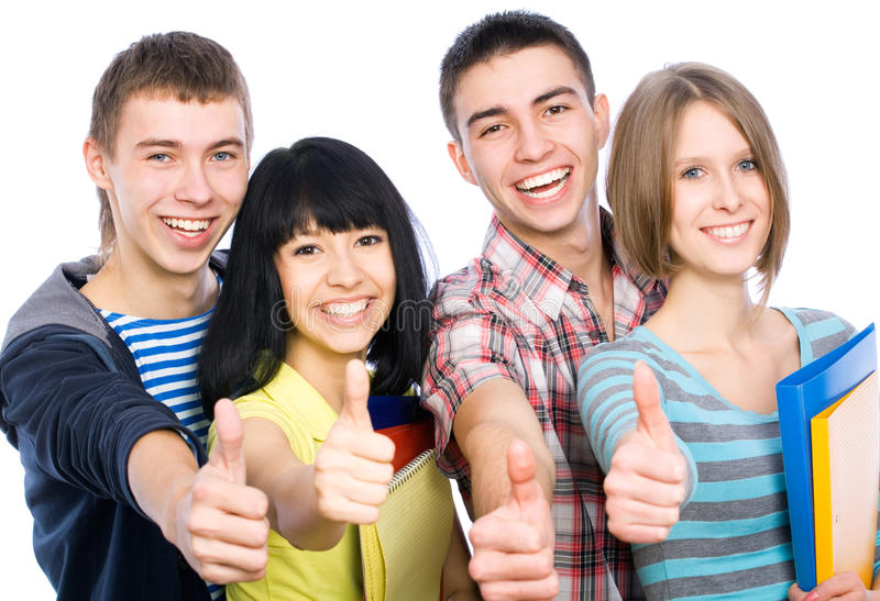 Download Happy students stock image. Image of cool, beautiful - 24588307