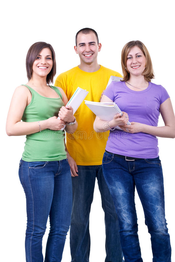 Happy Students With Books Royalty Free Stock Photo