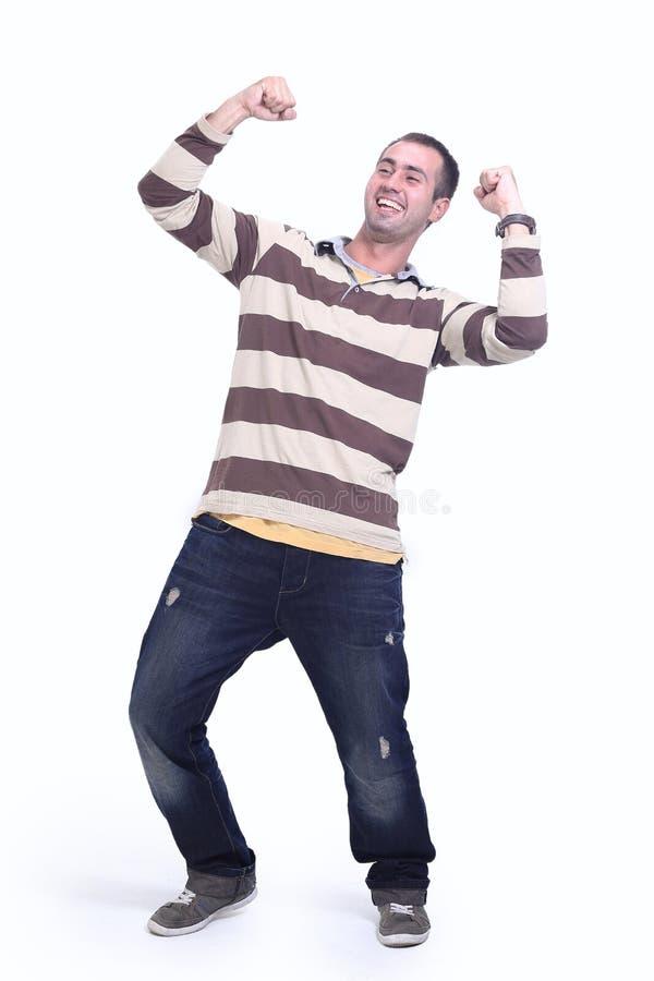 Happy stylish young man. royalty free stock photo