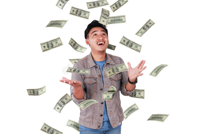 Happy Successful Asian Male stock image