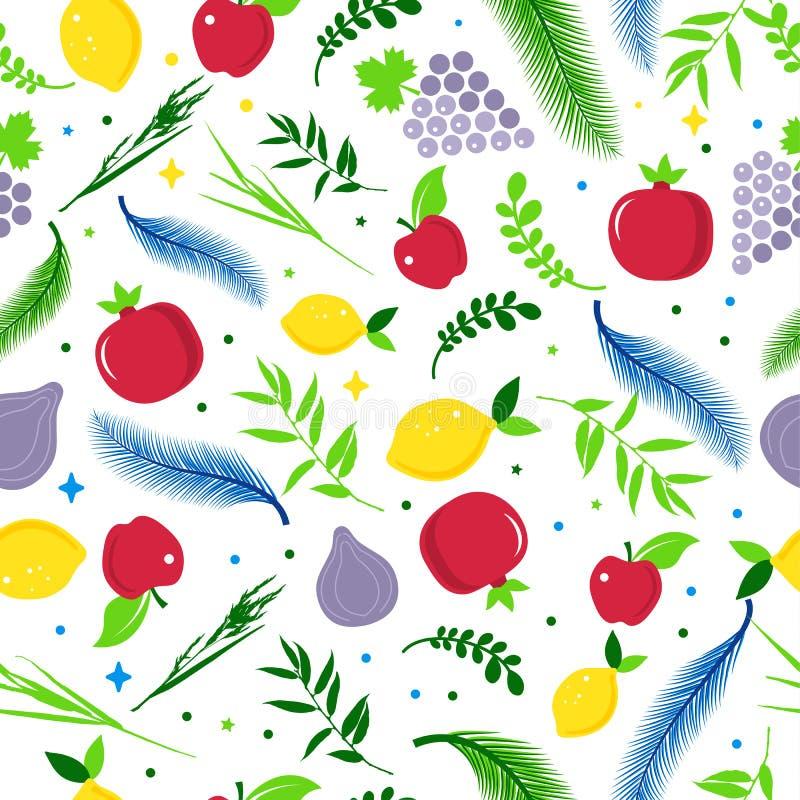 Sukkot Symbols - Four Species - Palm, Willow, Myrtle , Etrog  Jewish