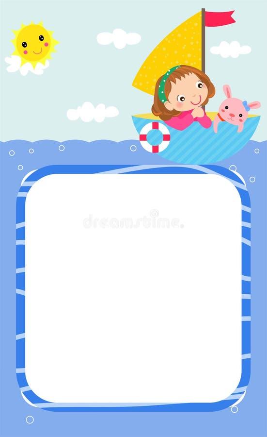 Happy summer and children stock illustration