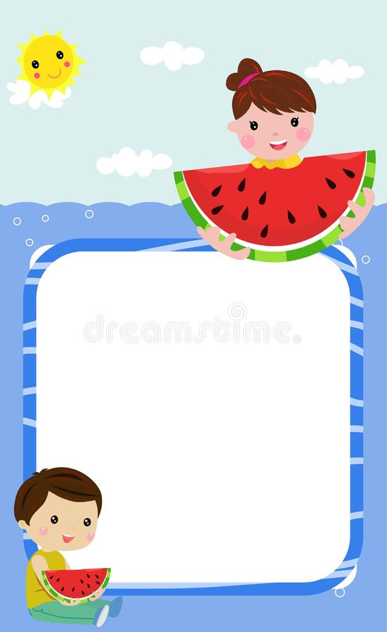 Happy summer and children royalty free stock photography