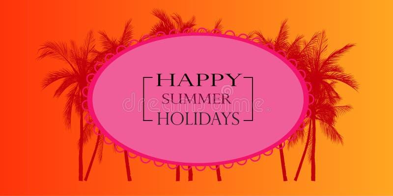 Happy summer holiday card, vector illustration stock illustration