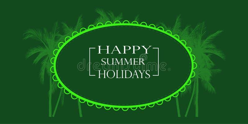 Happy summer holiday card, vector illustration royalty free illustration