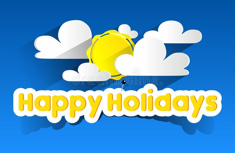Happy Summer Holidays Background Vector: Happy Summer Holidays Stock Vector. Illustration Of
