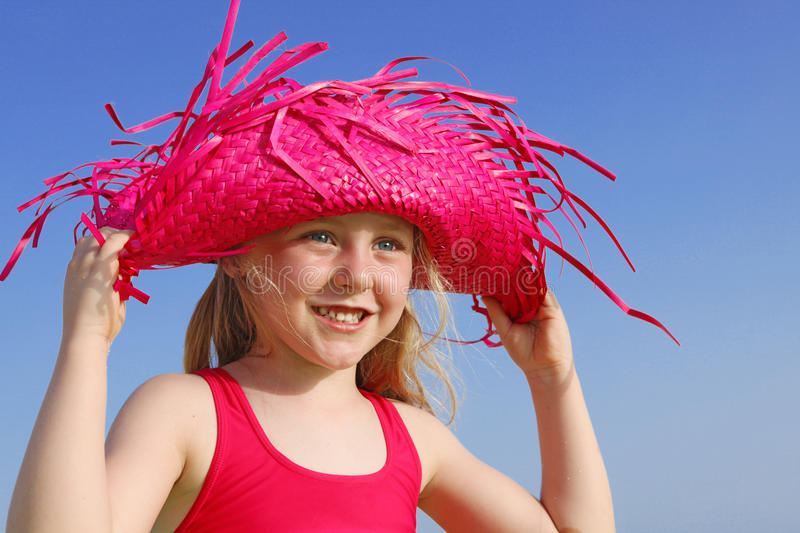 Download Happy Summer Kid With Sun Protection Stock Image - Image: 12385969