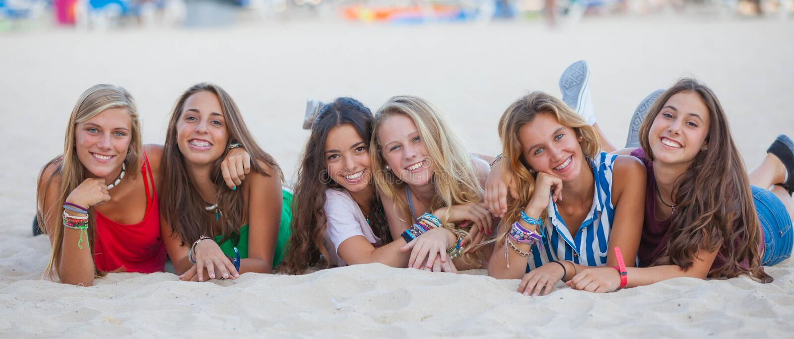 happy summer teens royalty free stock photos