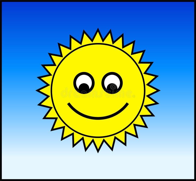 Download Happy Sun stock illustration. Illustration of curvy, face - 635128