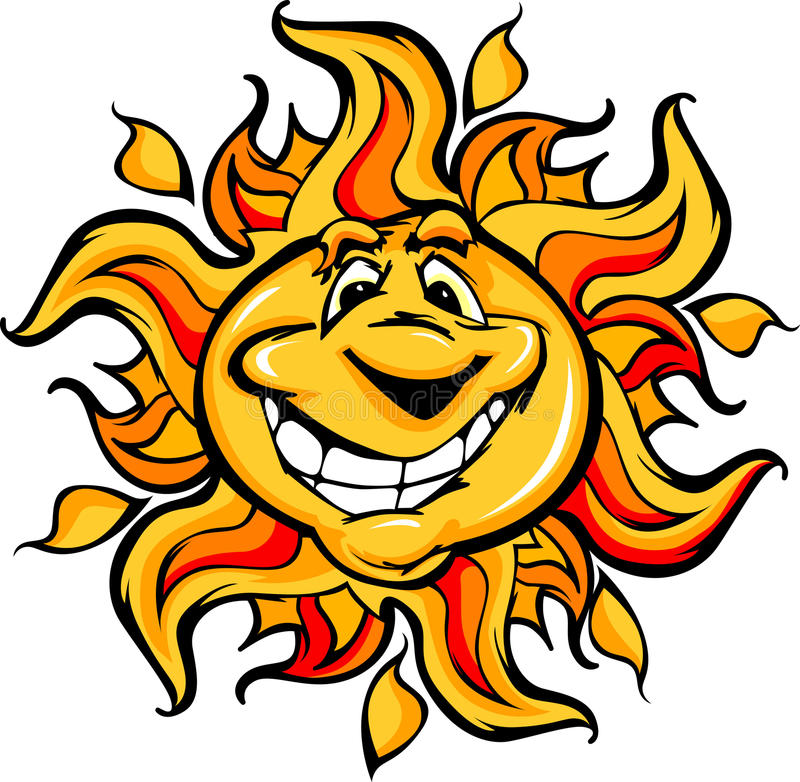 Download Happy Sun Cartoon With A Big Smile Stock Vector - Illustration of illustrations, solar: 23586924