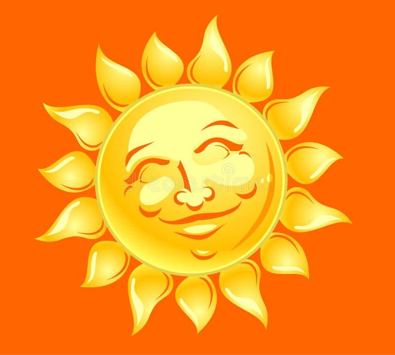 Download Happy Sun Face stock illustration. Illustration of source - 28967682