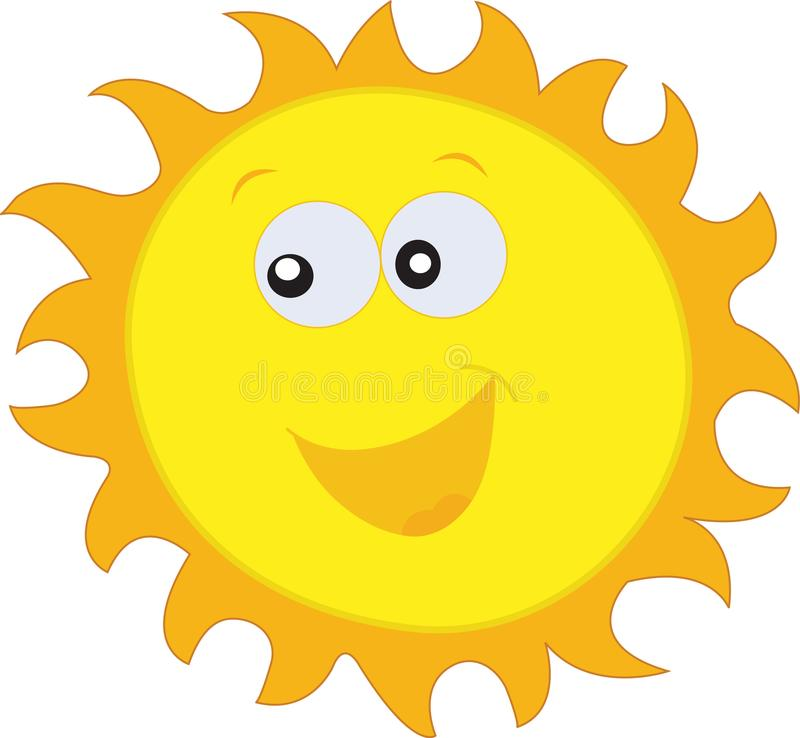 HAPPY SUN, HOT SUN, SUNNY DAY AND SUMMER DAY SUN DAYLIGHT VECTOR royalty free stock photo