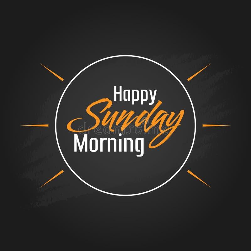Happy Sunday Morning Vector Template Design stock illustration