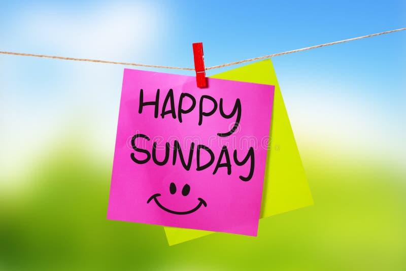 Happy Sunday, Motivational Text Stock Photo