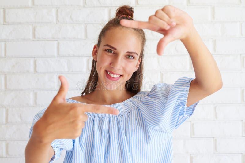 Happy sunny girl stock photo